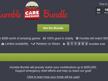 Humble特別バンドル「Humble Care Package Bundle」開始―合計385ドル相当の人気ゲームが勢揃い! 画像